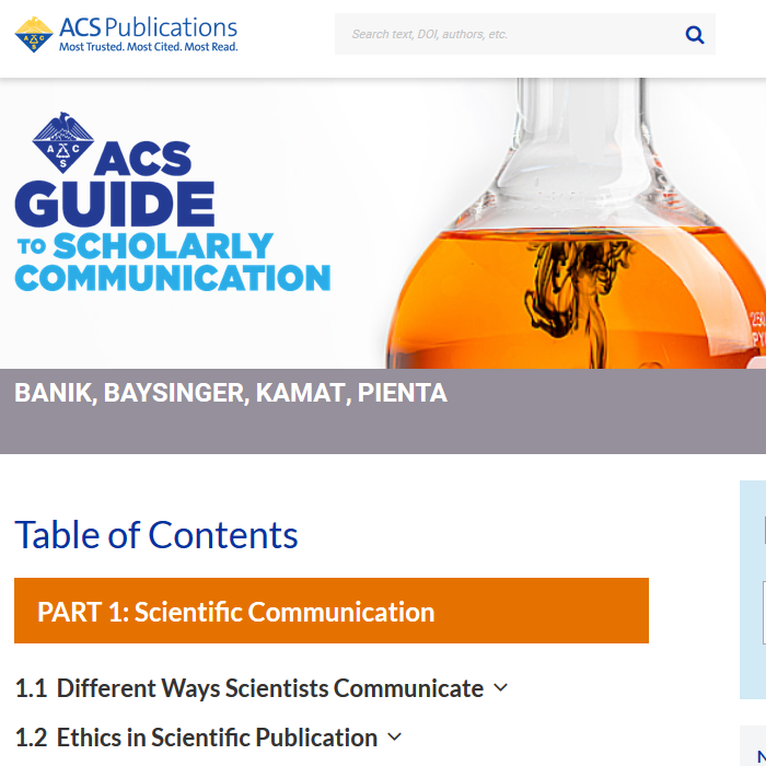 ACS Guide to Scholarly Communication homepage