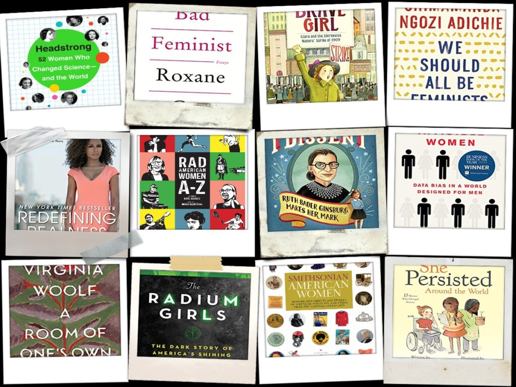 collage of book covers featured in this blog