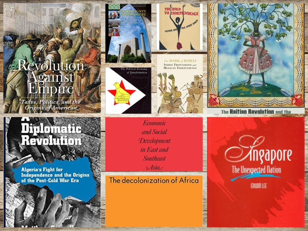 A collage of book titles featured in our Independence Days themed book post.
