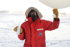 UND alum caps year of meteorological work in Antarctica with dedication to UND Atmospheric Sciences mentors