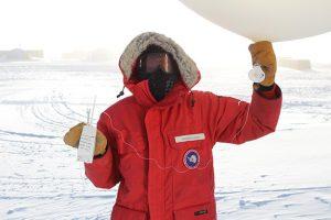 UND alum caps year of meteorological work in Antarctica with dedication to UND Atmospheric Sciences mentors