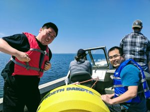 The ESSP buoy was deployed in Devils Lake for the summer season
