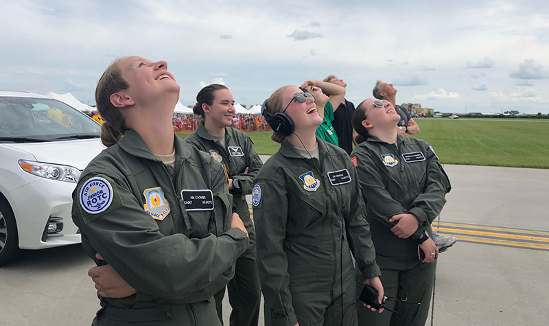 AFJROTC brings second round of junior cadets to UND Aerospace for intensive training