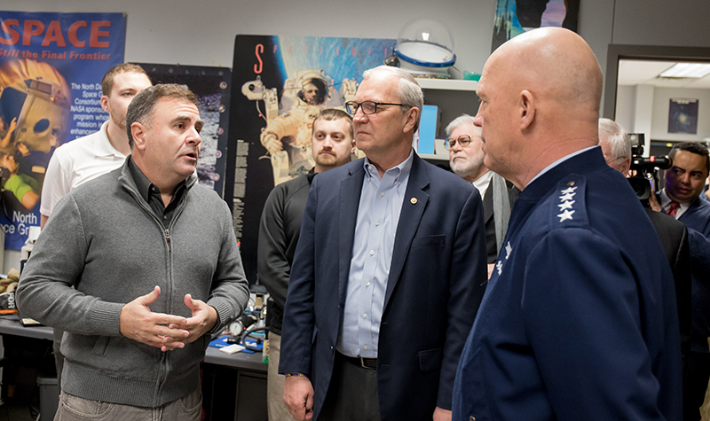 Leader of newly formed Space Force visits UND