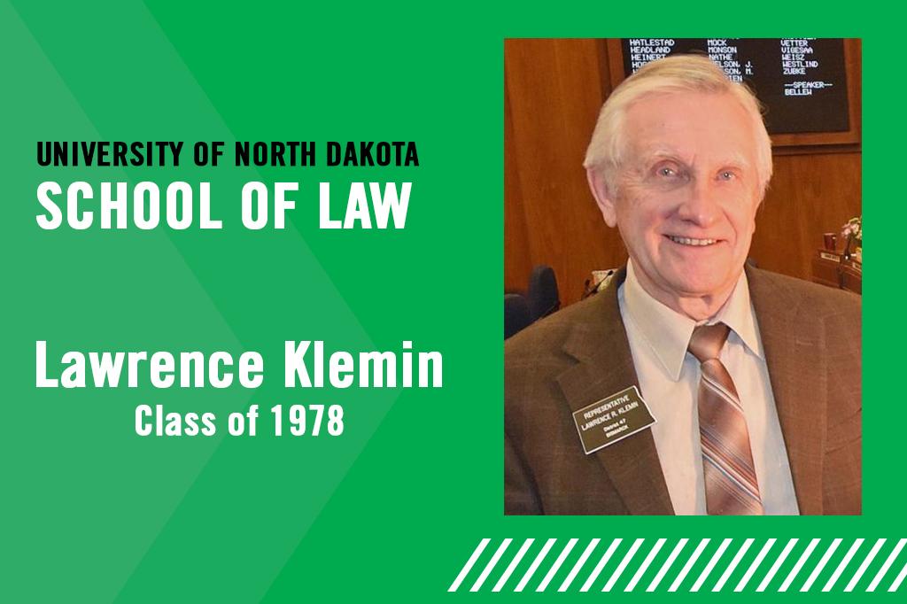 Lawrence Klemin, '78, selected North Dakota House Speaker