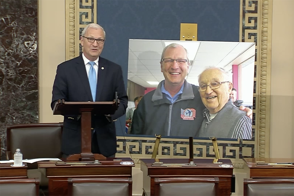 Sen. Cramer Wishes WWII Veteran, Lynn Aas '49 a Happy 100th Birthday in Speech on Senate Floor