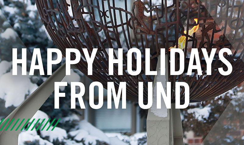 VIDEO: Happy Holidays from UND