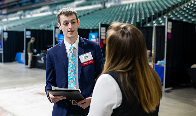 Take it from Tyler: Career fairs work for students
