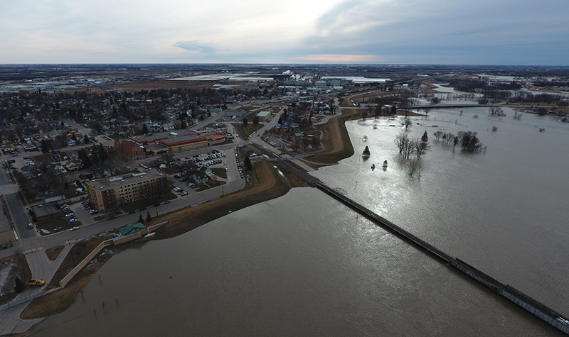 Risk of major Red River flooding impacting UND recedes