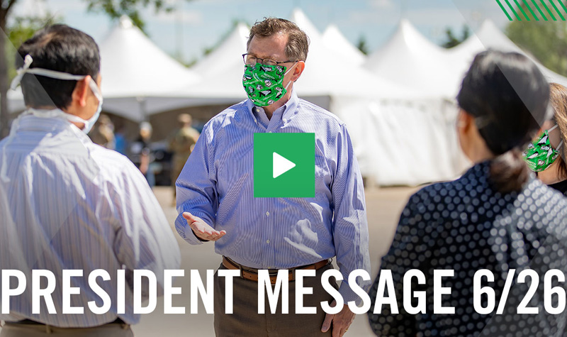 Update and video message from President Armacost