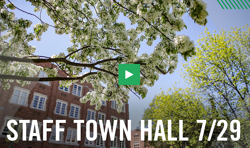 Staff Town Hall topics: face coverings, parking and protective equipment
