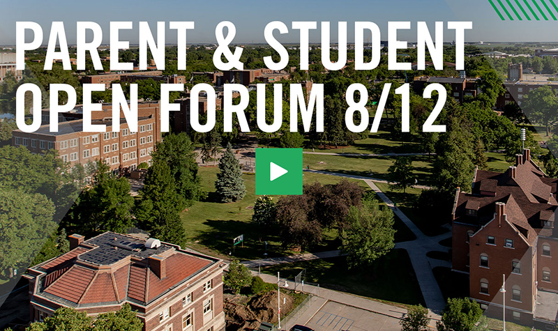 UND leaders answer questions from students, parents in Open Forum