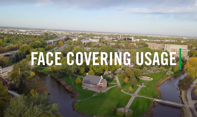 VIDEO: UND students study use of face coverings