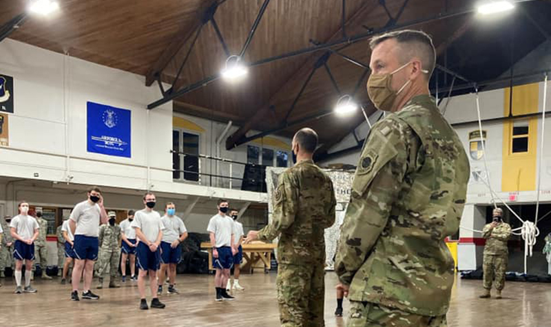 At UND, Maj. James Franciere, USAF, becomes Maj. James Franciere, USSF