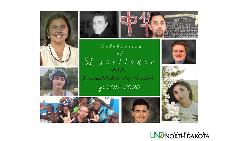 Key words for National Scholarship honorees: 'UND Proud'