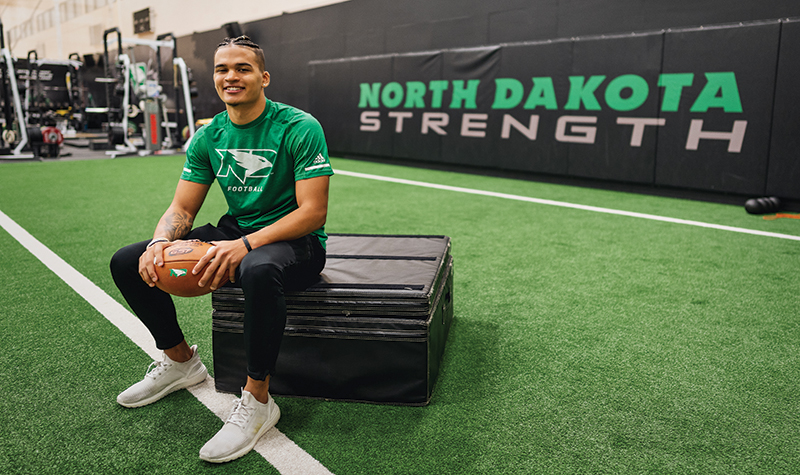 Jacob Odom finds his voice at UND