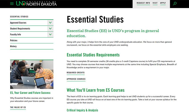 As UND progresses, Essential Studies evolves