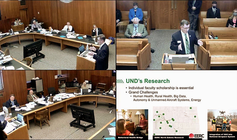 President Armacost testifies before ND House Appropriations Committee