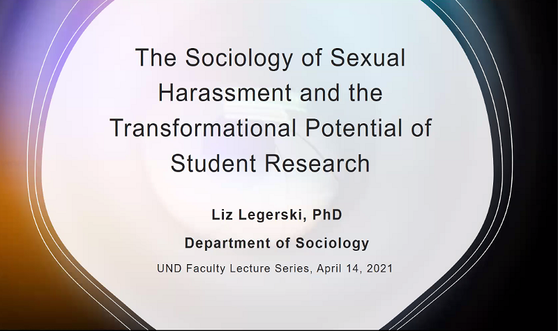 Faculty Lecture: Sociologist Liz Legerski focuses on student research, sexual violence