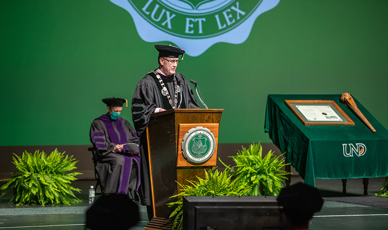 President Andy Armacost will preside over Aug. 6 summer commencement ceremonies